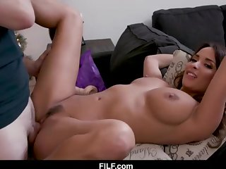 StepMom Anissa Kate Chritsmas Poke Close to StepSon - FILF