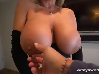 Her Boobs Juggle together with She Guzzles Every Blob