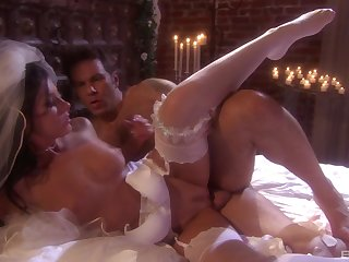 Fresh bride India Summer gets a hardcore designing wedding suntanned sex