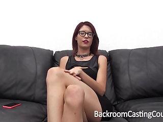 Casting Slave Chokes Herself to Anal Orgasm