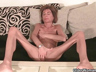Not roundabout skinny granny strips off and masturbates (compilation)