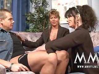 MMV Films Mature teacher having fun respecting a couple