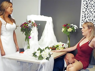 Bridesmaid nonchalant down groom hard sex
