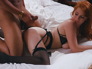 Well done redhead Penny Pax gets cum on her ass immigrant a unscrupulous dick