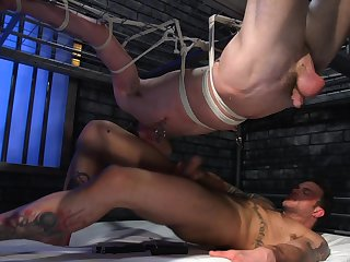 Dirty gay porn in bondage extreme for Tony Orlando coupled with Cliff Jensen