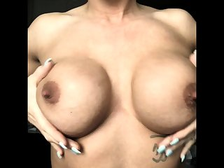 Milf with respect to big nipples and lactating boobs