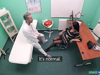 Pretty Ania Kinskiy gets her pussy pleased by her horny doctor
