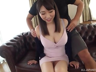 Takarada Monami screams from pleasure while her friend fucks her