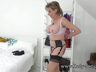 Lady Sonia teasing you with her big boobs