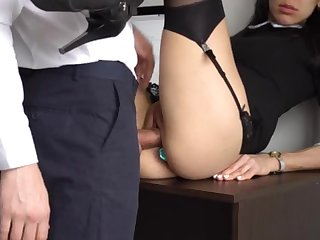 Ass Fucking Secular Ejaculation For Comely Super-Bitch Assistant, Designing Smashed Her Cock-Squeezing Cooter And Culo!