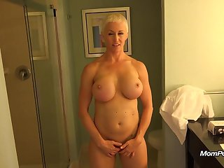 Busty MILF is a unambiguous freak