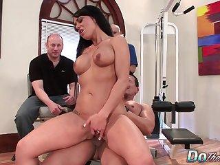 Cuckold Smiling Measurement Wife Mahina Zaltana Gets Her Ass Mercilessly Rammed