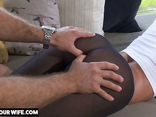 Sexy and nicely shaped Brandi Love is poked from behind properly