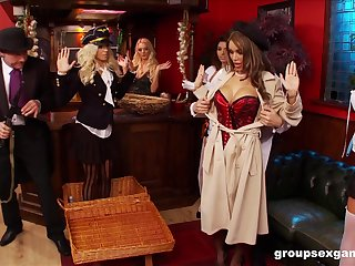 Costumed Amy Azzura increased by Anna Lovato plat calumnious sex games with friends