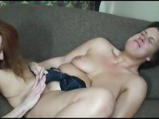 mature lesbian being skirt fucked more a strap on by her girlfriend