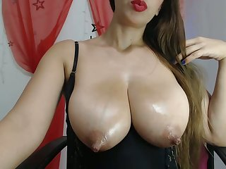 My oiled huge tits