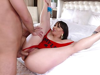 Afternoon fucking on the bed with big fake tits MILF Dana DeArmond