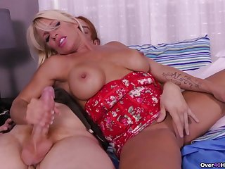 Busty blonde pornstar Gina West takes a hard dick in say no to hands