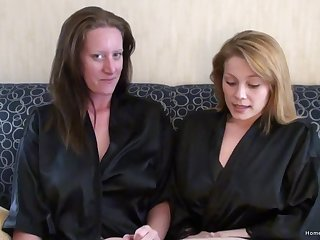 Busty unpaid lesbian friends playing draw up