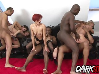 Wild Sluts Enjoy Interracial Anal Orgy