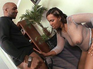 well-rounded ebony wife banged hard by black penis