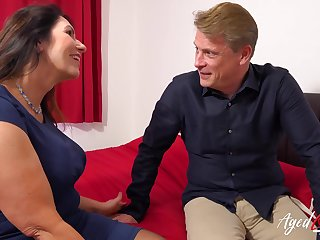 AgedLovE British Grown-up with Huge Titties Hard Core