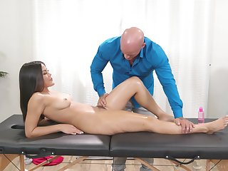 Asian pulchritude receives more than unequalled a on the level massage