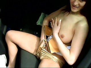 This slut is infinitely horny and she just cannot last a show one's age without my dick