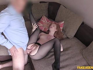 Young redhead Ella Hughes shines during hot players fuck