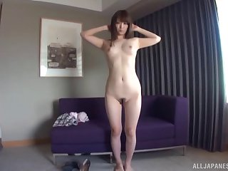 Homemade video of a Japanese slut teasing with her ass and pussy