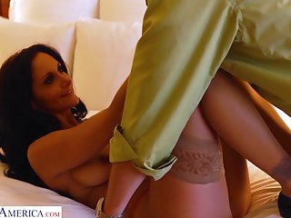 Sexy tanned slender babe flashes her bum painless she fucks doggy sensually