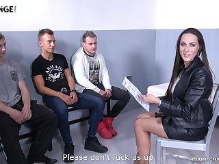 Hardcore screwing between a lucky amateur plus Czech star Mea Melone