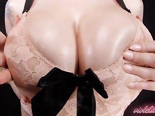 Bra Worship - big naturals rearrange up in sexy lace bra