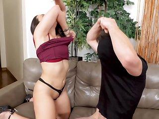 Handsome brunette MILF Lilly Manor-house enjoys having hardcore sex