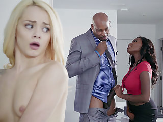 Housewife and hubby with BIG BLACK COCK poke nubile blondie